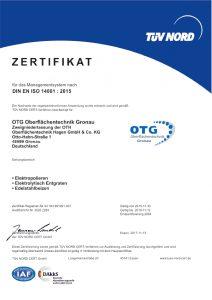 iso14001 Zertifikate Umwelt elektropolieren chemisch entgraten Trommelpolieren