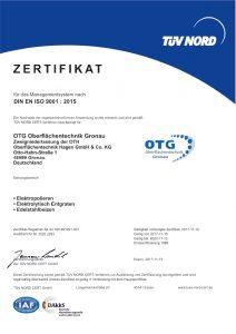 Zertifikate iso9001 Qualität elektropolieren chemisch entgraten Trommelpolieren
